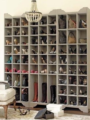 Shoe Organization.  Closet Nirvana!
