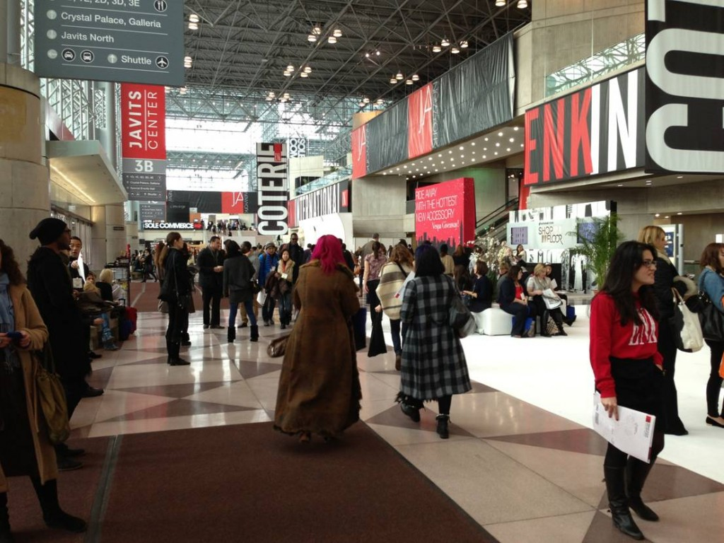 Thousands of people pour through the entrance into the massive Jacob Javits Center each day during the Coterie show.