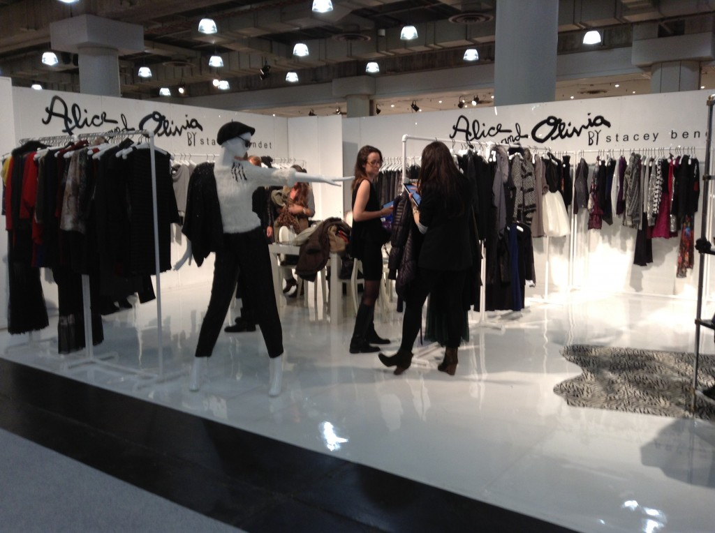 Alice and Olivia is one of the hottest lines around. Their show space at the Coterie was buzzing.