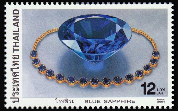 Sapphires from Thailand are so famous that they were featured on a Thai postage stamp in 2001.