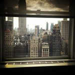 View of the big apple from the Michael Kors showroom.