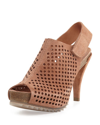 Perforated leather shoes by Pedro Garcia