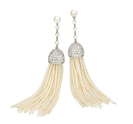 Ivanka Trump Diamond and Seed Pearl Earrings