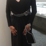 FEMAP Supporter Dolores Scotte in Mignon jersey gown