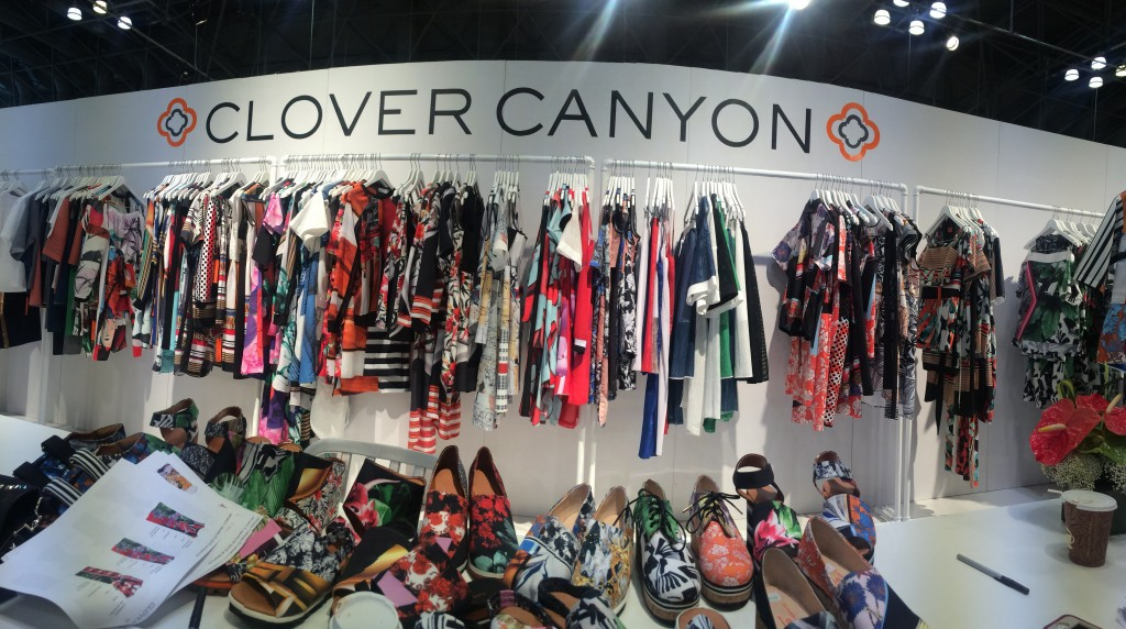 The Coterie is miles and miles of designer booths displaying their lines for the Spring 2014 season.  Clover Canyon is one of the most popular vendors due to their innovative mixing of prints and fabulous bright colors.