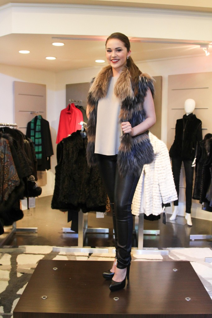 Fur vests are a fabulous way to create a luxe casual look.