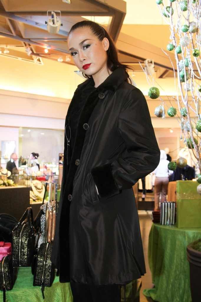 Women love the luxury feel combined with practicality for cold-weather travel. Dragging around bulky coats and trying to keep them from getting dirty can be a real pain.  These coats are rainsilk on one side and lightest weight fur on the other.  It is easy to board a plane with the rainsilk side out and just fold up the lightweight coat and stow it above.   Depending on the occasions and weather that await at your destination – sightseeing, getting groceries for the grandkids or a special evening out – choose the dressy or casual side, the rain or shine side.