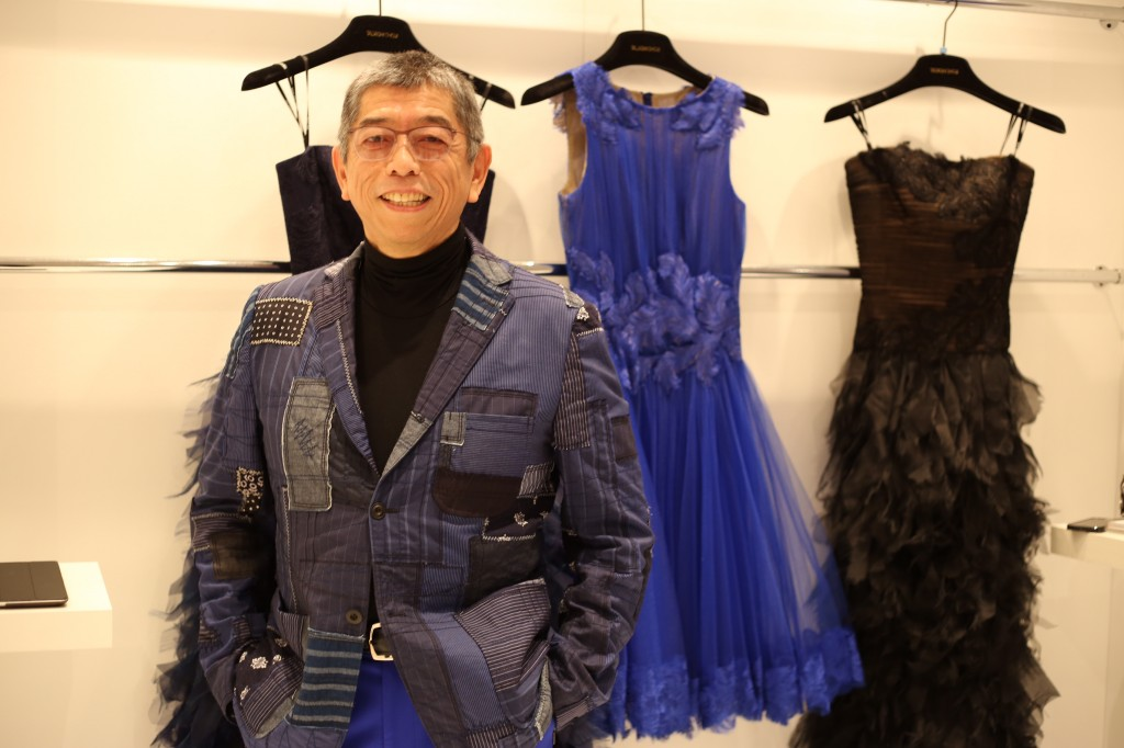 Soji Tadashi and his line of eveningwear.