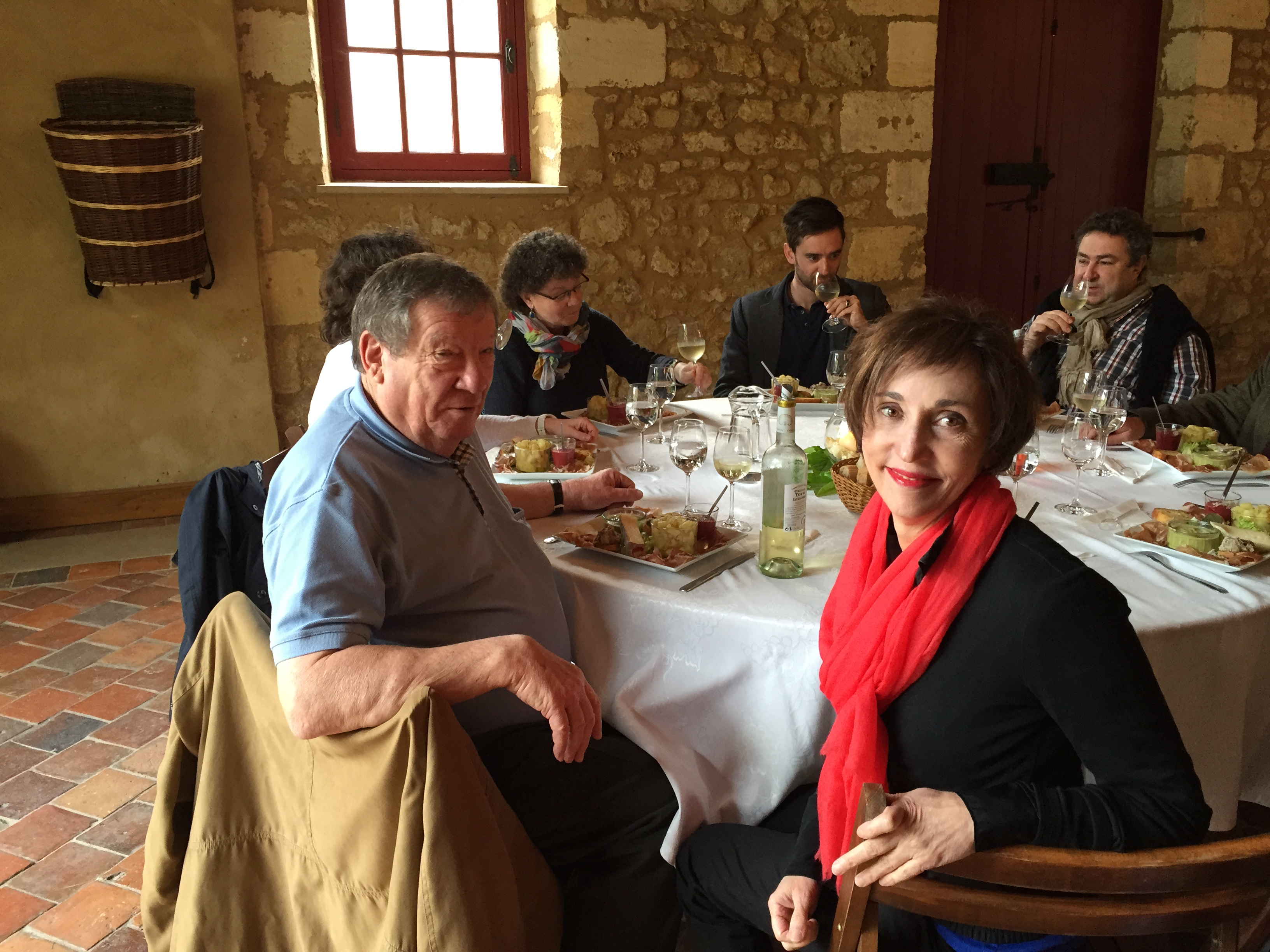Lunch at Chateau Bailly, where I met helicopter pilot Gilbert Aubrée.