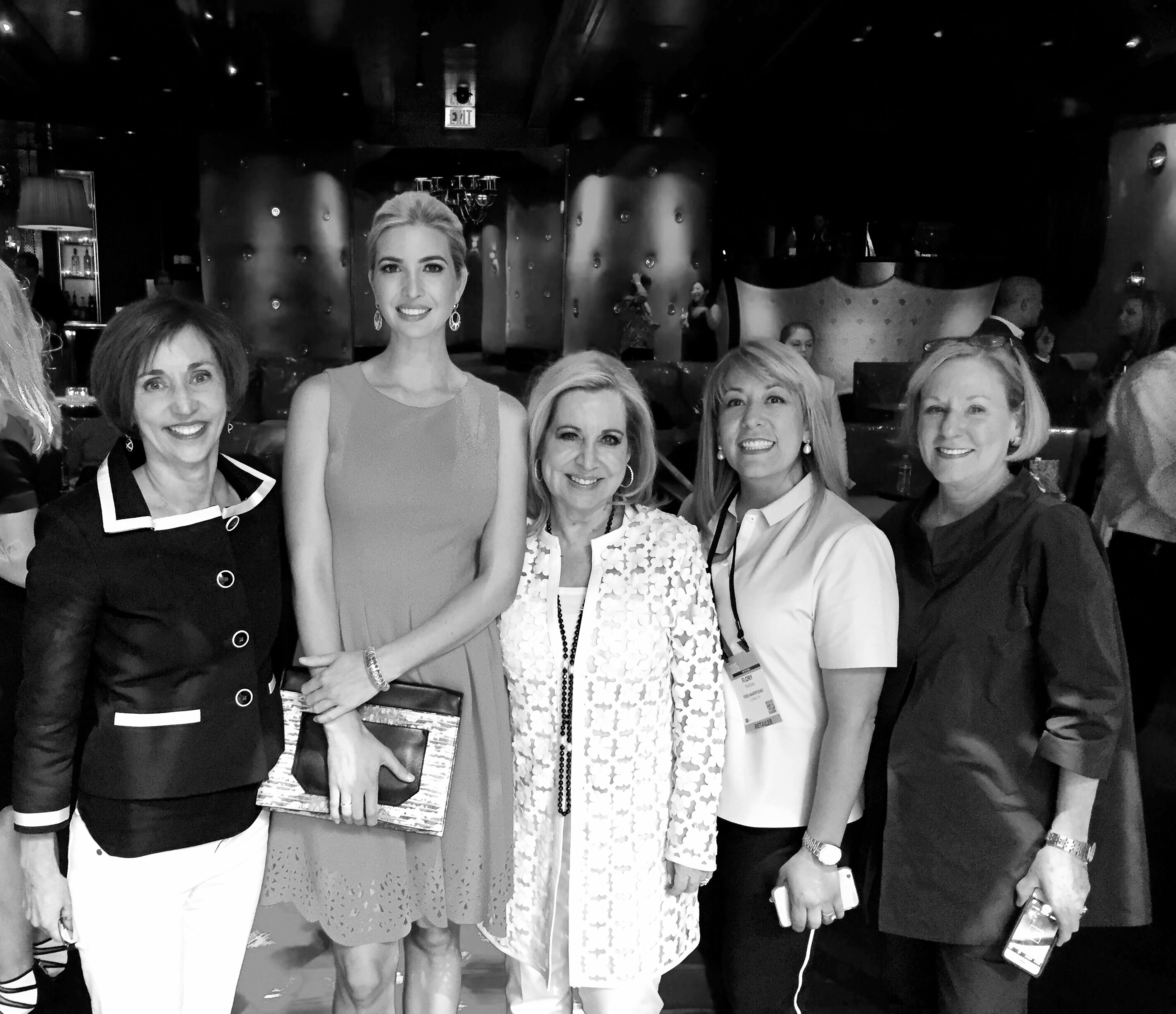Ivanka Trump with buyers from Tres Mariposas