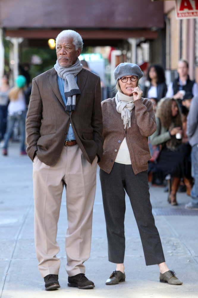 Morgan Freeman and Diane Keeton, in the film 5 Flights Up