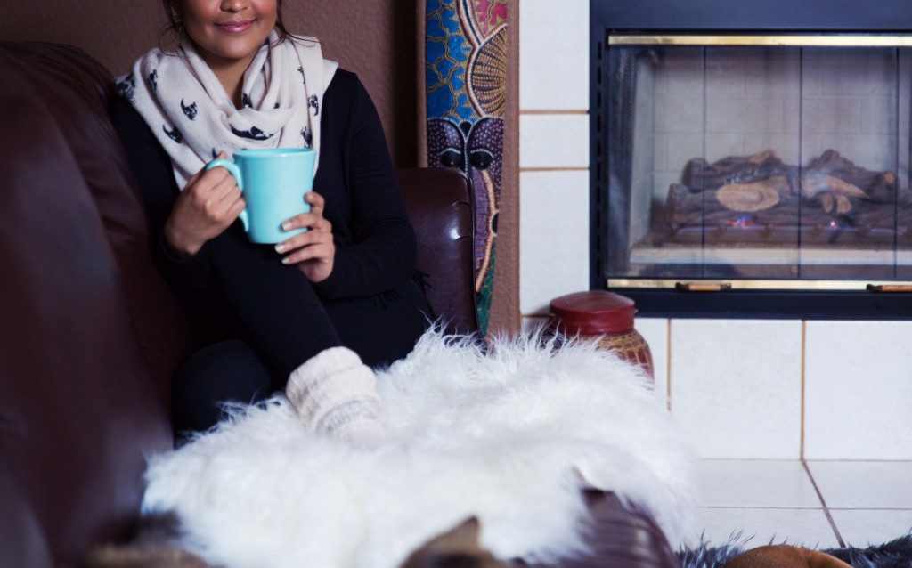 Cuddle up with a new sweater or throw.