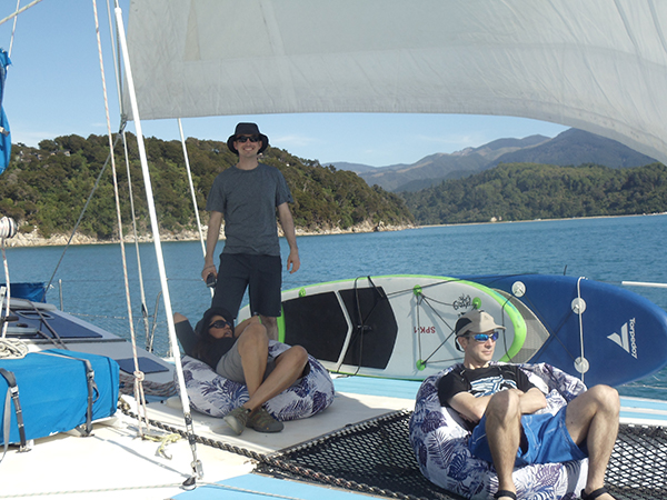 T-shirts and shorts for sailing on a catamaran at Abel Tasman National Park.