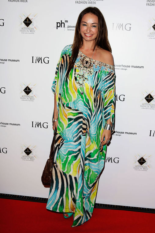 Designer Camilla Franks in one of her signature caftans.